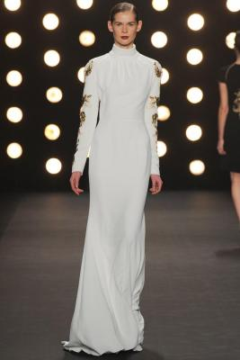 Klara Urbanova NY Fashion Week Naeem Khan